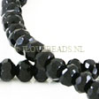 ONYX BEADS - FACETED RONDELLE 12x8MM